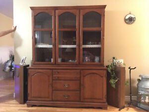 Solid Maple Buffet/ Hutch Reduced $250, OBO