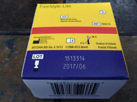 FreeStyle Lite blood glucose test strip,box of 100,Exp. 06/2017