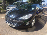 2010 Peugeot 308cc Automatic 1.6 THP 23,000 Miles Convertible