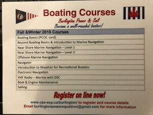 Boating Courses starting soon!!