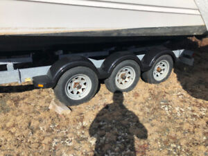 Excaliber Tri Axle Boat Trailer for sale with 9000 lb capacity.