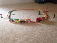 Wooden train and track