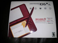 Mint Condition Red Nintendo DSi XL
