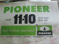 PIONEER MANUAL's - CHAINSAW MANUAL'S