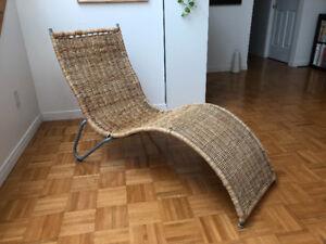 Chaise longue en rotin IKEA
