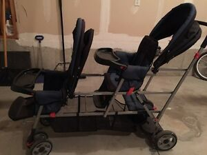 Joovy sit and stand double stroller total 3 seats
