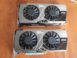 Two MSI GTX 560ti hawk TwinFrozr III for sale