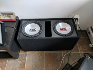 "MTX  Sealed Enclosure w/ 2x12"" Hammer 4500 subs"