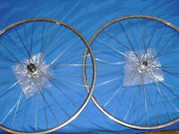 Vintage Bling Dura ace wheels, stem quill,headset ,and seatpost