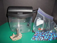 Betta fish tank Mini Bow 1 Desktop Aquarium Kit Black