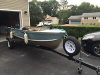 14 ft aluminum boat/15 hp motor and trailer