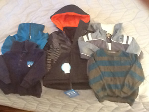 Lot of boys jackets and hoodies, inc NEW 3-in-1 jacket