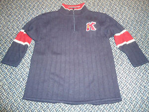 Boys Size 5 Navy Thick Knit Sweater by ***Kridkert Elite***