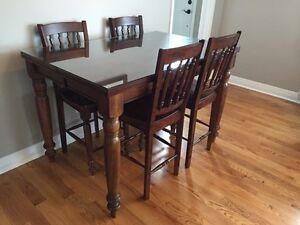 Solid Wood Pub Height Dining Table
