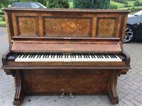 John Brinsmead upright walnut case | Belfast Pianos|