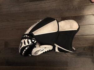 Left Handed Goalie Glove and Blocker