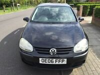 2006 VW GOLF 1.9 TDI S,DRIVES EXCELLENT,GREAT CONDITION,1 YEAR MOT,111K FULL SERVICE HISTORY,5 DOORS