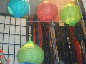 """Paper lanterns 10""""with light bulb $1.25ea when purchase of 12"""