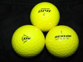 Mixed Model Mixed Branded Golf Balls ( Yellow) x 100. Pearl Condition