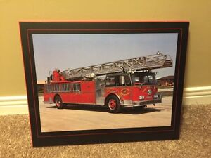 Fire Truck Picture (wood frame)