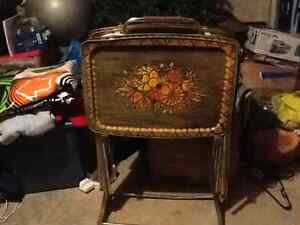 Set of 5 TV Tray Tables