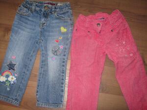 6 paires de jeans fille 2 ans