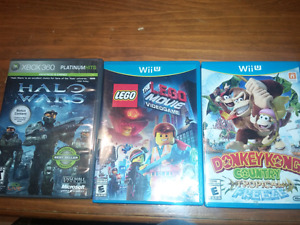 Wiiu and xbox games for sale