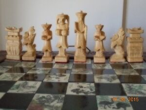 Chinese Hand Carved wooden chess case with hand carved pieces Kingston Kingston Area image 6