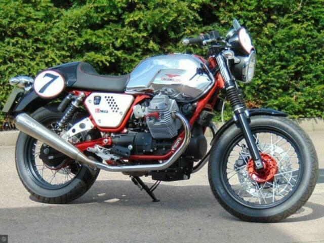 MOTO-GUZZI V7 CAFE RACER, ONLY 6 MILES, ARROWS PERFECT | in Stoke-on-Trent,  Staffordshire | Gumtree