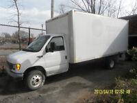 louer camion tout inclu 30$/h/taxes incluses