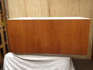 REDUCED (3) door bottom cabinet with oak doors