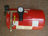 Portable Compressed Air Storage tank with gauges