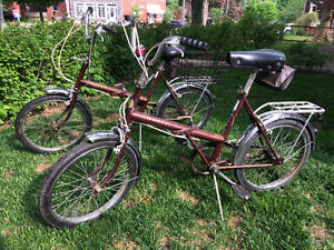 His & Hers VINTAGE Folding Bikes - Supercycle Twenty