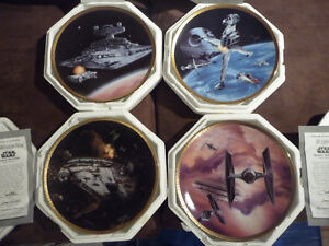 4 assiettes de collection Star Wars