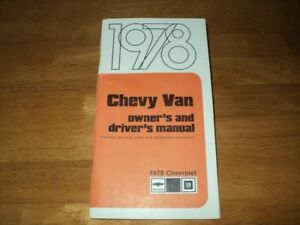1978 Chevy Van owner's and driver's manual