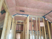 Custom home insulation, drywall and taping.