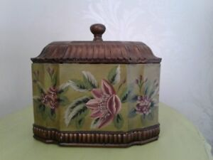 Beautiful Hand-Painted Wood Cremation Urn