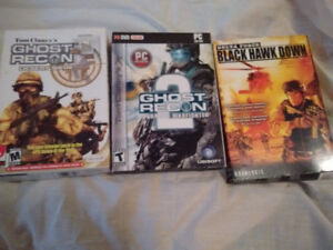 Old PC Games (Ghost Recon, Star Trek Away Team, Delta Force)