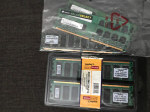 Computer RAM DDR and DDR2