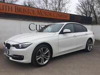 2012 12 BMW 318d SPORT 2.0TD NEW SHAPE MANUAL SAT NAV LEATHER WHITE 98K FSH