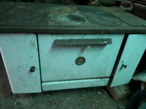 Antique wood cook stove good for Electric conversion