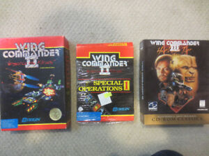 Wing Commander II and III, Special Ops, Vintage PC Big Box Games
