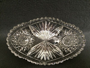 Collectible Antique Crystal Oval Candy Dish London Ontario image 1