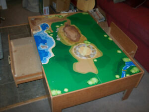 THOMAS TRAIN Table with side drawers. call/ text 905-442-2000