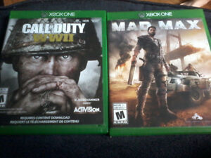 Xbox one Call of duty Ww2 & Mad max