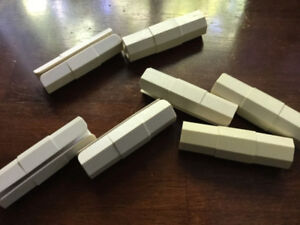 2 Styles of  Bed Skirt Pins/Holders
