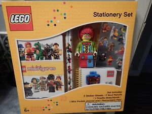 """New Lego 4"""" CLOWN Stationary Set : 7 Cool Pieces"""
