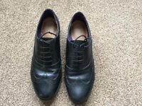 Size 5 Clarks ladies black leather brogues