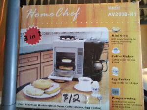 Home Chef 3 in 1 Breakfast Maker - NEW in box