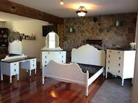 Refinished Walnut Bedroom Set